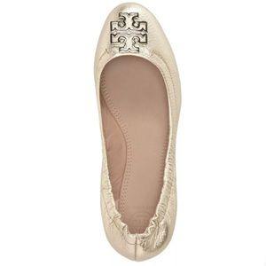 Tory Burch Melinda Ballet Flats Gold Size 8.5